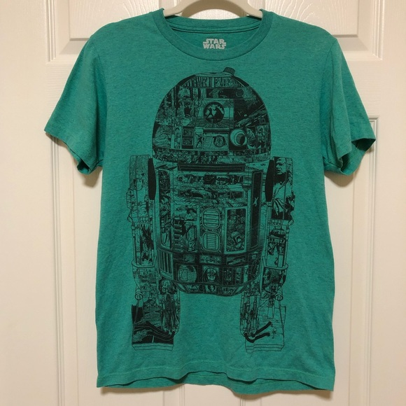 Star Wars Other - 🎉 3/$30 Star Wars R2-D2 Teal Short Sleeve Shirt